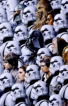 Luke Skywalker. Princess Leia. Han Solo. Chewie. Storm Troopers. Star Wars