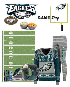 """Game Day, go Philly!!"" by smith-1979 ❤ liked on Polyvore featuring Rico Industries, Forever Collectibles, FANMATS, Cuce, ThinkGeek and Samsung"