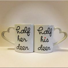 Personalized Half His/Her deen Mug set Item : by Ismukahuna