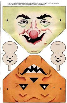 Vintage printable masks.