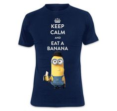 Despicable Me T-Shirt Keep Calm & Eat A Banana (Tim). Hier bei www.closeup.de