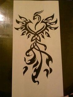 Phoenix Tribal Tattoo Drawing