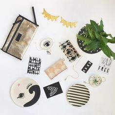 Lots of little treasures here. Our eye and cacti trinket dishes are perfect for necklaces but we love them for nibbles and a glass of wine too! Seen here with #Tiba&Marl #ChangingMat clutch bag, #LalaLoves #Eye #Decor #Lara&ollie #MissEtoile #Melamine #Plates and #AMiniPenny #Ceramic #Gold #Necklaces   Everything here available online now   ❤️  #ThisModernLife #ModernNursery #NurseryDecor #KidsRoom #KidsDecor #KidsInspo #KidsInterior #InteriorInspo #HomeAccessories #WildAndFree