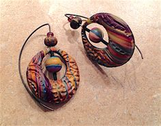 Polymer clay earrings by Joey Barnes