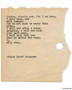 Typewriter Series #1803 by Tyler Knott Gregson
