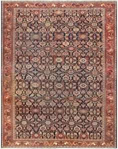 Antique Room Sized Persian Farahan Carpet 50149