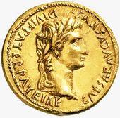 Aureus of Augustus, the first Roman Emperor.