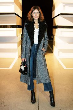 Alexa Chung's Styling Trick To Try Now: cropped flares & calf length boots