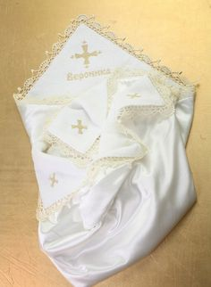 Personalized Embroidered Blanket Christening blanket by llemio