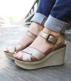 7a38d316f8e3 Dazzle and shine this summer in these metallic OTBT wedges, comfortable  enough to wear all