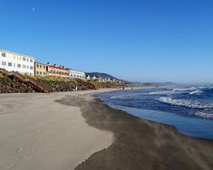 ROCKAWAY beach, OREGON:  Very small town; always busy in summer; still can do campfires on the beach.