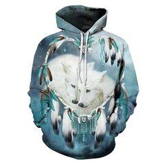 Expressive One-ear Wolf Zipper Hoodies Pullover Tracksuits Streatwear Zip Hoody 3d Men Clothing Autumn Sweatshirts 2018 Dropship Zootopbear Men's Clothing