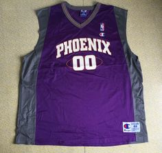 Phoenix Suns Jersey Vtg 90s Tony Delk 00 Champion Sports BasketBall NBA Kentucky #Champion #PhoenixSuns