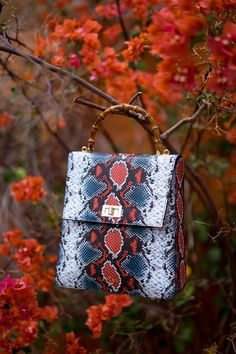 Designer Leather Handbags, Python Print, Animal Prints, Slow Fashion, Other Accessories, Leather Wallet, Bamboo, Handle, Tote Bag
