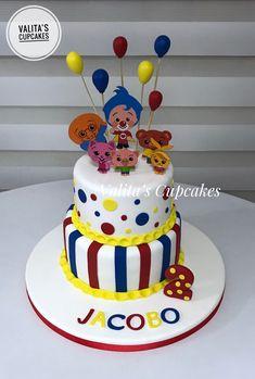Payasito Plim Plim cake First Birthday Decorations, First Birthday Parties, First Birthdays, Carnival Themes, Party Themes, Circus Birthday, Birthday Cake, Circus Cakes, Candy Buffet
