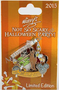 Disney Parks 2015 MNSSHP Halloween Party Daisy and Donald Duck Trading Pin Limited Edition LE 5550 Disney