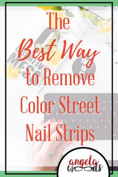 Color Street uses real nail polish to make amazing nailstrips that are easy to apply, durable, and cute! These easy-to-apply strips can come off many way, but I found my favorite and the easiest way to do it. Follow the link to find out more! #nailpolishremoverdiy #nails #bestnailpolishremover