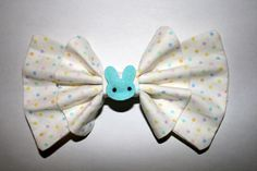 """BunnyBunny"" bow in blue from Sincerely, Maeko!    http://sincerelymaeko.storenvy.com"