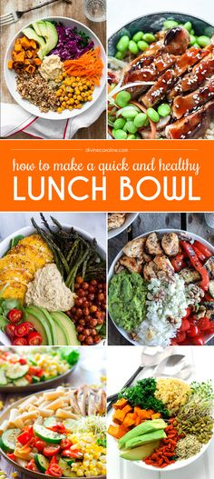Ditch your boring sandwich or salad. Try a healthy lunch bowl that is filling, balanced, and nutritious instead. Ditch your boring sandwich or salad. Try a healthy lunch bowl that is filling, balanced, and nutritious instead. Lunch Snacks, Lunch Recipes, Healthy Snacks, Vegetarian Recipes, Healthy Eating, Cooking Recipes, Healthy Protein, Vegan Meals, Simple Healthy Lunch
