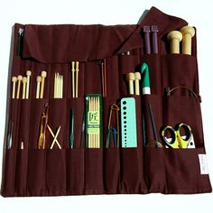 This is a must-have tool kit for all #knitters.  Keep everything you need for knitting - even the tiny yarn needles - safe and together in this organizer.