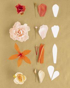 DIY déco de mariage : Fleurs en papier crépon