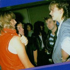@duranduran #jt #johntaylor #joeelliott  Nice, 2 huge teenage crushes :D