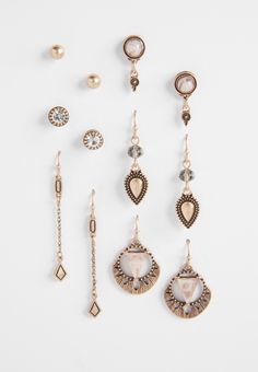 set of six pairs of earrings with pink stones (original price, $16.00) available at #Maurices