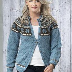 Frigg Jakke - Viking of Norway Cowl Neck, Vikings, Pullover, Knitting, Fair Isles, Knit Sweaters, Color, Hobbies, Island