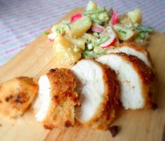 Oven Fried Picnic Chicken and a Creamy Garden Potato Salad from The English Kitchen