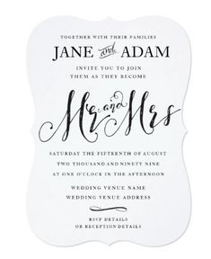 Shop Elegant Mr & Mrs Silver Typography Wedding Invite created by Pip_Gerard. Personalize it with photos & text or purchase as is! Wedding Invitations Australia, Typography Wedding Invitations, Beautiful Wedding Invitations, Wedding Invitation Design, Custom Invitations, Invites, Elegant Invitations, Wedding Stationary, Snowflake Wedding
