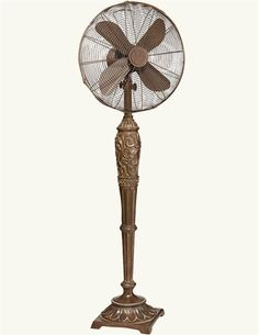 An elegant statuary in its own right, this decorative is capable of mustering a breeze. Floor Standing Fan, Browns Fans, Diy Fan, Gothic House, Vintage Kitchen, Breeze, Vintage Fashion, Home Appliances, Ornaments