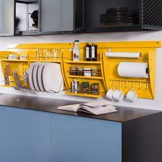 Nichos organizadores de cozinha Linha Colors | Farelo Criativo