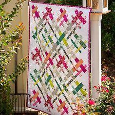 Strip Teasing. Woven. Lattice. Rainbow Scrap Challenge. Cut Loose from FreeSpirit Fabrics covers all of them. PDF here http://www.freespiritfabrics.com/inspirations/FS2075DS.pdf