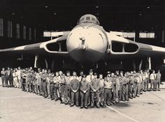 #xh558Waddington The mighty Vulcan after modification of the refueling probe prior to it's departure to the Falkland Islands in 1982, where it bombed the runway at Port Stanley, 'Operation Black Buck'.  This is GEF at RAF Waddington, my husband being one of the airmen.