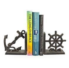 Nautical Metal Bookend Set -- Want additional info? Click on the image.