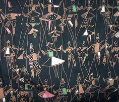 jacqueline groag, puppet ballet fabric