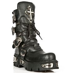 a52d14a92bb These are the new Amazing Crucifiers from New Rock Boots. Black Buffalo  Hide Leather.