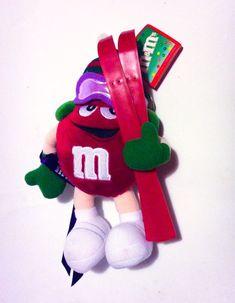 "M&M'S XMAS POSABLE PLUSH RED ELF SKIING 10"" COLLECTIBLES 2002 #MMsCandy Christmas Elf, Christmas Ornaments, Skiing, Plush, Holiday Decor, Animals, Vintage, Ebay, Xmas Ornaments"