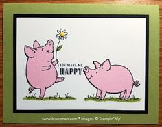 Dena Lenneman, Stampin' Up! Demonstrator: SNEAK PEEK: This Little Piggy