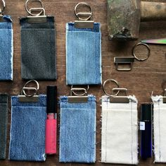 Creating new things from old is what I love to do most. Keychains for him or her. So useful, so American. #denim