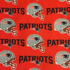 NFL New ENGLAND PATRIOTS Super Bowl Champions Football 100% cotton fabric material by the 1/2 yard liscensed Crafts, Quilts, Home Decor by BBCraftsCollectables on Etsy