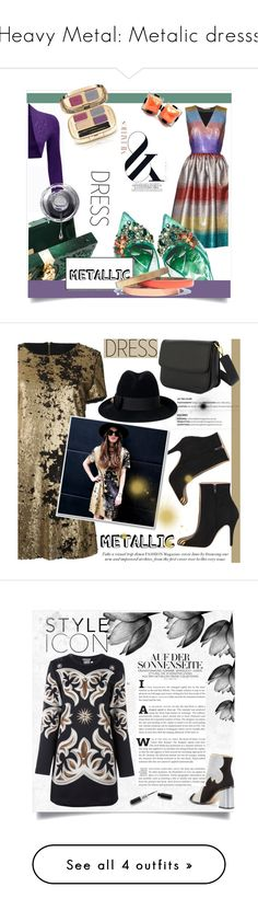 """""""Heavy Metal: Metalic dresss"""" by shamsiya57 ❤ liked on Polyvore featuring Marco de Vincenzo, WearAll, Dolce&Gabbana, Voz Collective, metallicdress, Gucci, contestentry, kreateurs, FAUSTO PUGLISI and BCBGMAXAZRIA"""