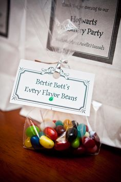 Jelly Beans With Quot Bertie Botts Every Flavor Beans Quot Label