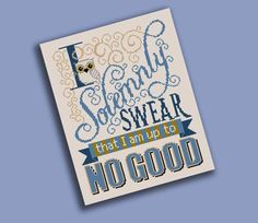 SALE 50% COUPON Solemnly Swear Cross Stitch by fiddlesticksau