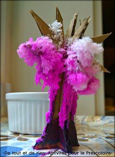 De tout et de rien: Activités pour le Préscolaire: Growing a magic crystal cherry blossom tree (Sakura) - Faire fleurir un arbre magique en cristaux de sel (cerisier en fleurs)