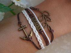 SALE  BraceletAntique Bronze Anchor Bracelet by Especially2U, $6.99
