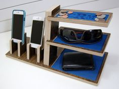 Double Phone Docking Station Organizer by PineconeHome on Etsy