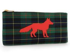 Red Fox Plaid Clutch