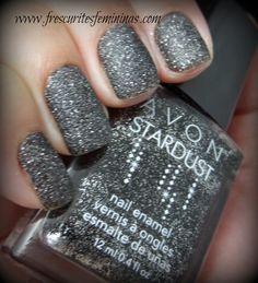 Avon Stardust - Black Sequins  My new favorite nail polish!!