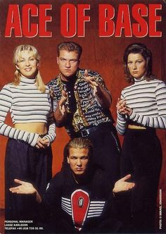 """Ace Of Base is a Swedish pop group (from Gothenburg) , originally consisting of Ulf """"Buddha"""" Ekberg and three siblings, Jonas """"Joker"""" Berggren, Malin """"Linn"""" Berggren and Jenny Berggren. They released four studio albums between 1992 and 2002, which sold over 30 million copies worldwide, making them the third-most successful band from Sweden of all time, after ABBA and Roxette."""